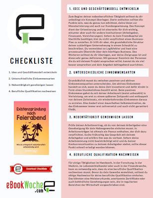 Checkliste: Existenzgründung nach Feierabend